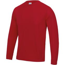 Textil Homem T-shirt mangas compridas Awdis JC002 Vermelho Fogo