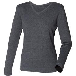 Textil Mulher camisolas Henbury HB721 Grey Marl