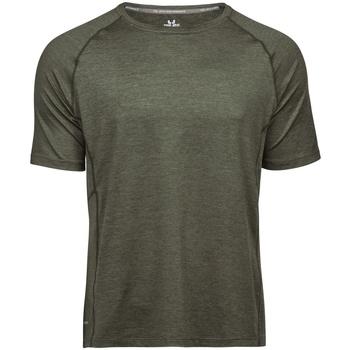 Textil Homem T-Shirt mangas curtas Tee Jays TJ7020 Melange de azeitona