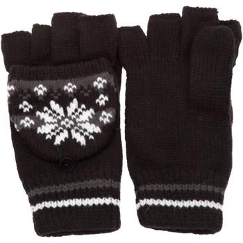 Acessórios Mulher Luvas Universal Textiles Patterned Preto/Cinza