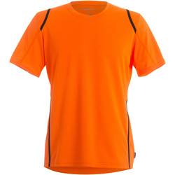 Textil Homem T-Shirt mangas curtas Gamegear Cooltex Laranja Fluorescente/Preto
