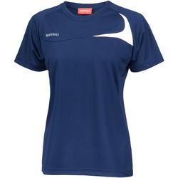Textil Mulher T-Shirt mangas curtas Spiro S182F Marinha/ Branco