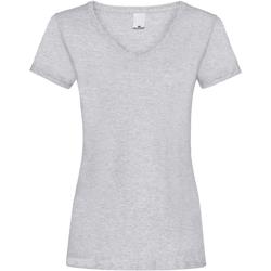 Textil Mulher T-Shirt mangas curtas Universal Textiles Value Grey Marl