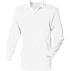 Textil Homem Polos mangas compridas Front Row FR100 Branco/branco