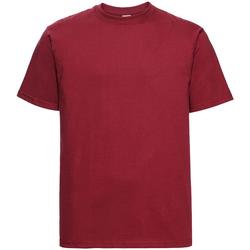 Textil Homem T-Shirt mangas curtas Russell 215M Vermelho clássico
