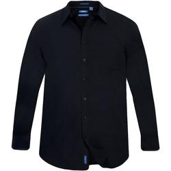 Textil Homem Camisas mangas comprida Duke  Preto