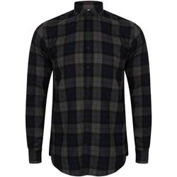 Textil Homem Camisas mangas comprida Skinni Fit Check Cheque da Marinha