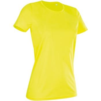 Textil Mulher T-Shirt mangas curtas Stedman  Amarelo Cibernético