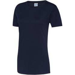 Textil Mulher T-Shirt mangas curtas Awdis JC005 Marinha de Oxford
