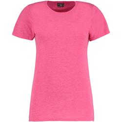 Textil Mulher T-Shirt mangas curtas Kustom Kit Superwash Pink Marl