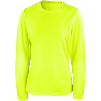 Textil Mulher T-shirt mangas compridas Spiro S254F Verde lima