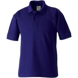 Textil Rapaz Polos mangas curta Jerzees Schoolgear 539B Púrpura