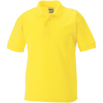 Textil Rapaz Polos mangas curta Jerzees Schoolgear 65/35 Amarelo