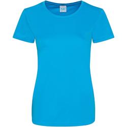 Textil Mulher T-Shirt mangas curtas Awdis JC025 Sapphire Blue