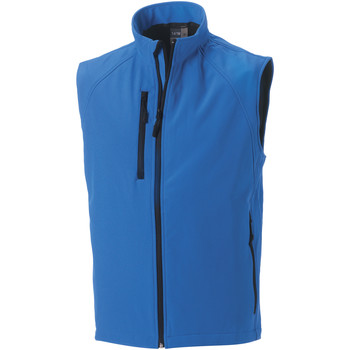 Textil Homem Casacos de malha Russell Soft Shell Azul-azul