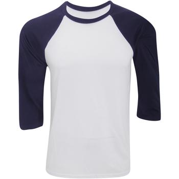 Textil Homem T-shirt mangas compridas Bella + Canvas CA3200 Branco/Navio
