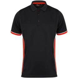 Textil Homem Polos mangas curta Finden & Hales TopCool Preto/Vermelho/branco