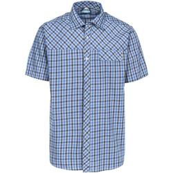 Textil Homem Camisas mangas curtas Trespass Juba Cheque Azul