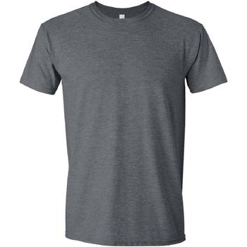 Textil Homem T-Shirt mangas curtas Gildan Soft-Style Heather Negra
