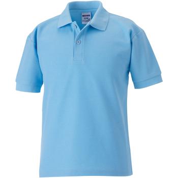 Textil Rapaz Polos mangas curta Jerzees Schoolgear 65/35 Azul Céu