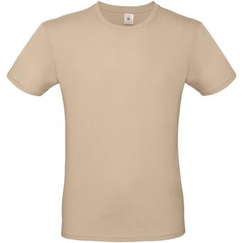 Textil Homem T-Shirt mangas curtas B And C TU01T Areia