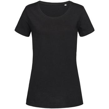 Textil Mulher T-Shirt mangas curtas Stedman Stars Sharon Opala Negra