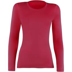Textil Mulher T-shirt mangas compridas Rhino  Vermelho