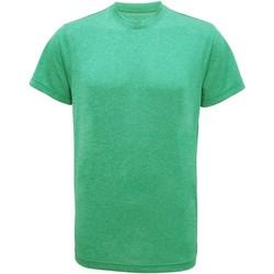 Textil Homem T-Shirt mangas curtas Tridri TR010 Melange Verde