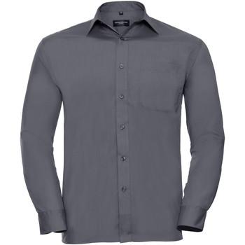 Textil Homem Camisas mangas comprida Russell 934M Cinza do comboio