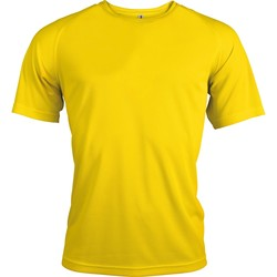 Textil Homem T-Shirt mangas curtas Kariban Proact PA438 Verdadeiro Amarelo