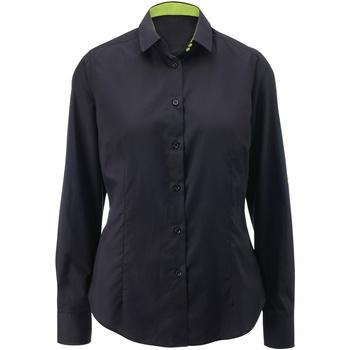 Textil Mulher camisas Alexandra AX060 Preto/ Cal