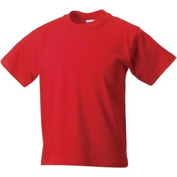 Textil Criança T-Shirt mangas curtas Jerzees Schoolgear ZT180B Vermelho Brilhante