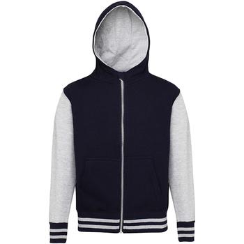 Textil Criança Sweats Awdis JH51J Oxford Navy/ Heather Grey