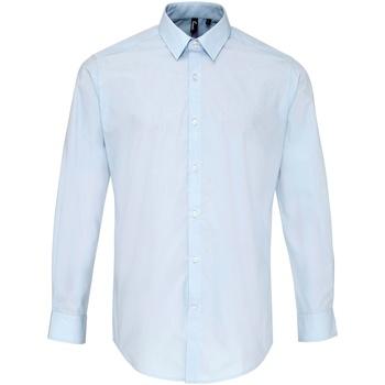 Textil Homem Camisas mangas comprida Premier PR207 Azul claro