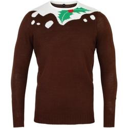 Textil Homem camisolas Christmas Shop CS155 Marrom/branco