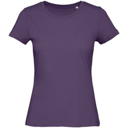 Textil Mulher T-Shirt mangas curtas B And C TW043 Púrpura Urbana