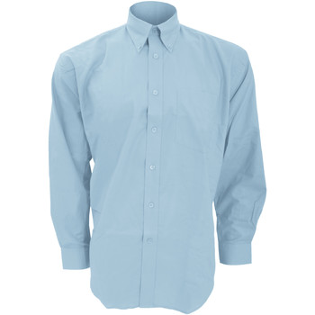 Textil Homem Camisas mangas comprida Kustom Kit KK351 Azul claro