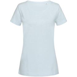 Textil Mulher T-Shirt mangas curtas Stedman Stars Sharon Azul Pó