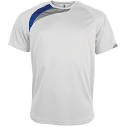 Textil Homem T-Shirt mangas curtas Kariban Proact PA436 Branco/ Royal/ Storm Grey