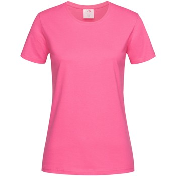 Textil Mulher T-Shirt mangas curtas Stedman  Doce Rosa