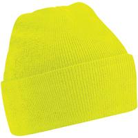 Acessórios Criança Gorro Beechfield B45B Amarelo Fluorescente