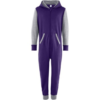 Textil Criança Macacões/ Jardineiras Comfy Co CC03J Púrpura/Cinzento-couro
