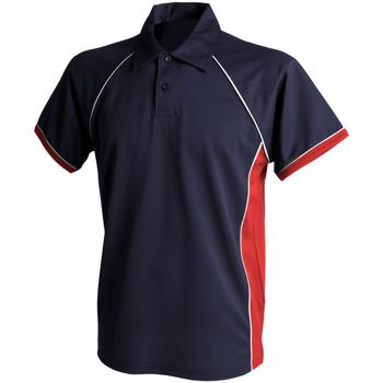 Textil Homem Polos mangas curta Finden & Hales Piped Marinha/vermelho/branco