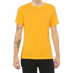 Textil Homem T-Shirt mangas curtas Bella + Canvas CA3413 Triblend de Ouro Amarelo