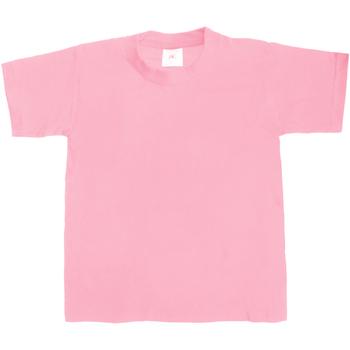 Textil Criança T-Shirt mangas curtas B And C Exact 190 Rosa dos anos sessenta