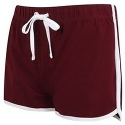 Textil Mulher Shorts / Bermudas Skinni Fit SK069 Bourgogne/ Branco
