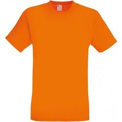 Textil Homem T-Shirt mangas curtas Universal Textiles 61082 Laranja Brilhante