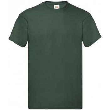 Textil Homem T-Shirt mangas curtas Fruit Of The Loom SS12 Garrafa Verde