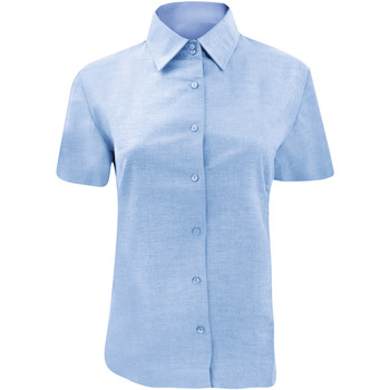 Textil Mulher camisas Russell 933F Oxford Blue