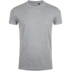 Textil Homem T-Shirt mangas curtas Sols 10580 Grey Marl